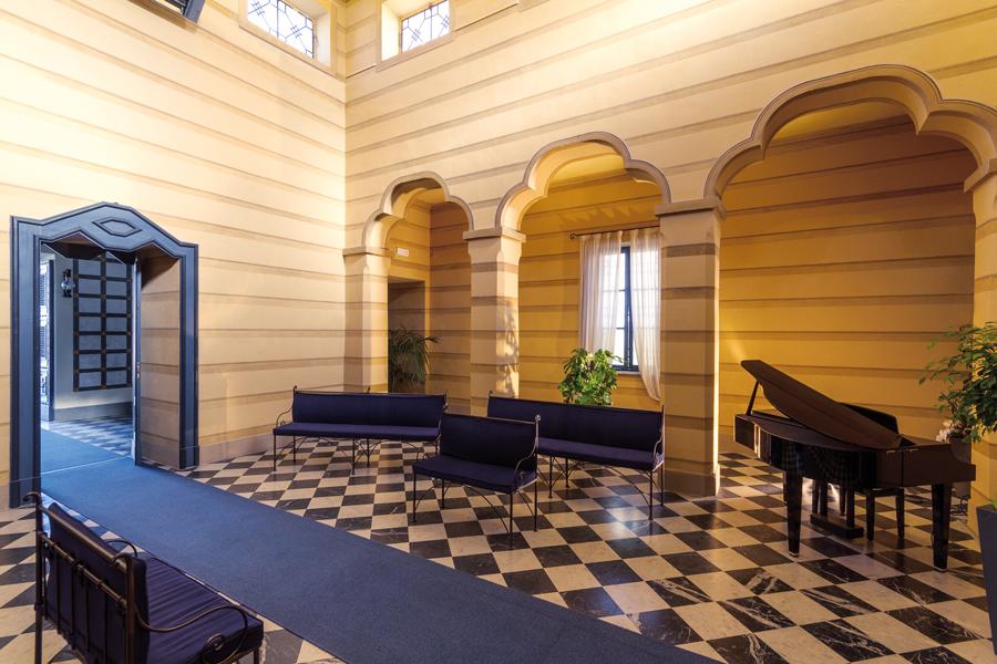 sala del commiato tempio crematorio di Bra